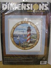 Dimensions Cross Stitch Kit Lighthouse Looking for Serenity God Grant Me New