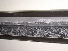 Vintage Mid Century Seattle Panorama / Panoramid Cityscape Black & White Photo