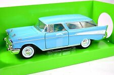 CHEVROLET NOMAD 1957 BLUE LUCKY DIECAST ROAD SIGNATURE 24203 1:24 NEW MODEL
