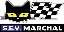 Motorsport Vinyl Stickers Sev Marchal Cat Head & Flag Rally Sponsors Decals