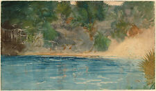 Winslow Homer Watercolor Reproductions: Blue Spring, Florida: Fine Art Print