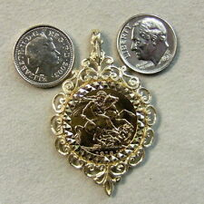 9 ct GOLD second hand full sovereign pendant