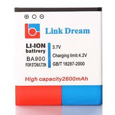 3.7V 2600mAh Rechargeable Li-ion Battery for Sony BA900 ST26i LT29i Durable S0O8