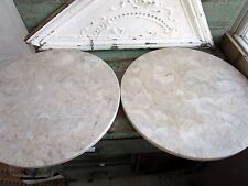 two Vintage Round Marble Coffee Table Top Made in portqual 18""