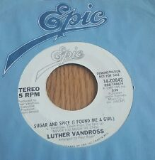 Luther Vandross – Sugar And Spice (I Found Me A Girl) ~ Promo ~ (VG++)