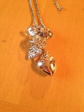 Pretty Vintage Style Heart Charm Necklace/Dainty/Retro/Kitsch/Craft/Upcycle?