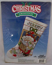 "Santa's Story Counted Stocking By Good Shepard New Christmas Kit 9"" x 16"" Sealed"