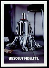 cartolina pubblicitaria PROMOCARD n.3848 ABSOLUT FIDELITY VODKA collection n221