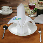 6Pcs 12Pcs White Napkins Cloth for Resterant Home Wedding Party Dinner 48 x 48