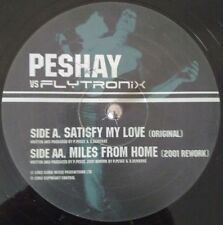 "Peshay vs Flytronix ‎– Satisfy My Love / Miles From Home 12"" Drum and Bass Vinyl"