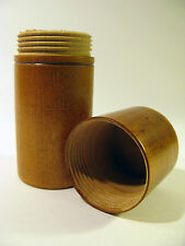 Antique Early 1900s Hand Turned Maple Bottle Storage Box with Screw on Lid.