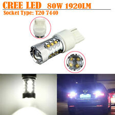 2x 80W White1920LM CREE LED T20 7440 Car Backup Reverse Turn Signal Light Canbus
