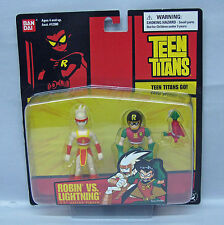 Teen Titans Robin Vs Lightning 3.5in Ban Dai short card figures NIP 4+ S103-8