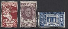 ITALY :1922 Anniversary of Manzini's Death set  SG 126-8 mint