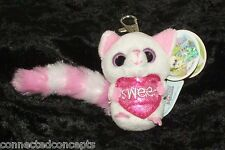 """Valentine's Day YooHoo and Friends """"Sweet"""" Pammee the Fennec Fox Clip On Keyring"""