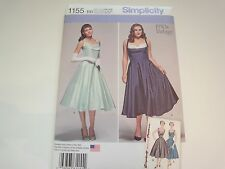 Simplicity Pattern 1155 1950's Vintage Style Dress Misses Womens Size 20W-28W