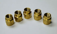 "Brass Fittings: Brass Reducer Coupling Female Pipe 1/2"" to 3/8"", QTY 5"
