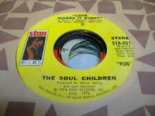 Soul 45 THE SOUL CHILDREN Love Makes It Right on Stax 6