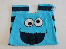 Cookie Monster pajamas womens Large pants fleece bottoms new 12/14 face on butt