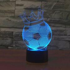 Creative Football Crown 3D Optical Illusion LED Table Lamp Energy Saving Lamp