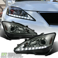 2006-2010 Lexus IS250 IS350 LED DRL Projector Headlights w/Daytime Running Lamps