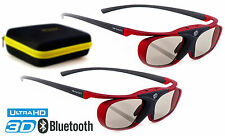 "2x 3D Brille | Hi-SHOCK® ""Scarlet Heaven"" für Samsung, Sony & Sharp HDR TV´s 