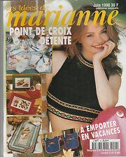 5332/ Les idées de Marianne broderie point de croix juin 1998 avec grilles