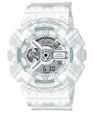 CASIO G-SHOCK LIMITED EDITION WHITE TRIBAL PATTERN MEN'S WATCH GA-110TP-7ADR NEW