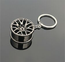 Gun Black Cool Luxury Metal Keychain Car Key Chain Wheel Pendant For Man Women