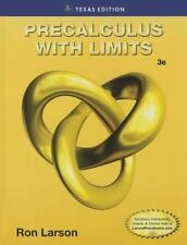 Precalculus with Limits, Texas Edition by Larson, Ron. 1305073819 Hardcover Book