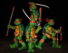 "4pcs Set TMNT TEENAGE MUTANT NINJA TURTLES 5"" Figure Red Headband New in box"