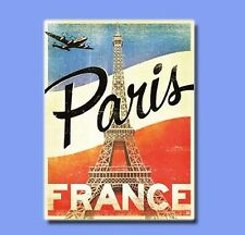 Vintage Sticker - France Paris Plane Retro Decal Skateboard Guitar Vinyl Laptop