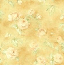 Off White Roses On Creamy Golden Yellow Wallpaper PI20103