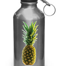 """CLR:WB - Realistic Tropical Pineapple Vinyl Water Bottle Decal ©YYDC (3""""wX6.5""""h)"""