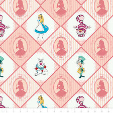 Disney Alice in Wonderland Always Curious Blush 100% cotton fabric by the yard