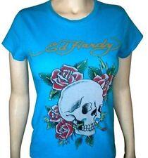 Ed Hardy Skull & Rose Tee (L) Blue