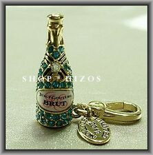 AUTHENTIC JUICY COUTURE 2012 LIMITED EDITION PAVE CHAMPAGNE BOTTLE CHARM NIB