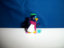 CARTOON PENGUIN Riding SNOWBOARD Figurine Kinder Surprise FUNNY PEPPY PINGOS