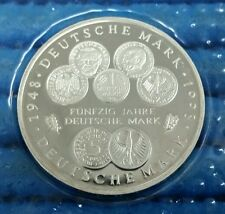 1989,1991,1998 & 2000 Bundes Republik Deutschland 10 DM Commemorative Proof Coin
