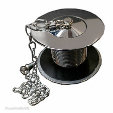 "London 1 1/2"" Unslotted Kitchen Sink Waste with Chrome Plug & Woodscrew Chain"