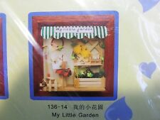 Dollhouse Miniature My Little Garden (Scenario/Roombox) in a Frame -- DIY KIT