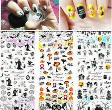 1 Sheet Nail Art Stickers Halloween Patterns Water Decals Transfer Decoration