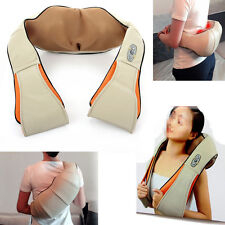 Health Care Pillow Kneading Neck Shoulder Back Waist Belly Massager With Heat
