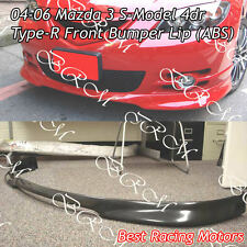 04-06 Mazda 3 4dr S-Model Type-R Front Bumper Lip (ABS)