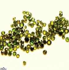 1x Diamanten - Rund Brilliant Grün green fac.  1,0-1,2mm(2425)