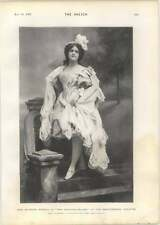 1901 Miss Blanche Brooks In The Fortune Teller Shaftesbury Theatre