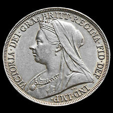 1896 Queen Victoria Veiled Head Silver LX Crown – EF