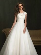 2015 New White/Ivory Tulle+Lace Wedding dress Bridal Gown Size6 8 10 12 14 16 18