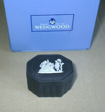 Wedgwood Jasperware Black Small Box Boxed