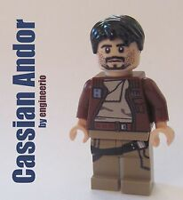 LEGO STAR WARS Custom Cassian Andor Rogue One mini figure 75155 han solo